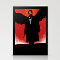 castiel Stationery Cards featuring Castiel by Duke Dastardly