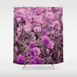 Botanical pink lavender girly floral pattern Shower Curtain