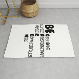Be Globally Responsible for Future Environment Now Green Rug