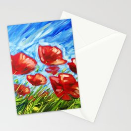 Wild Poppies by Ira Mitchell-Kirk Stationery Cards
