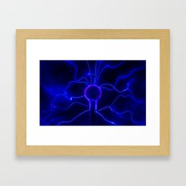 Blue Lightnings Framed Art Print