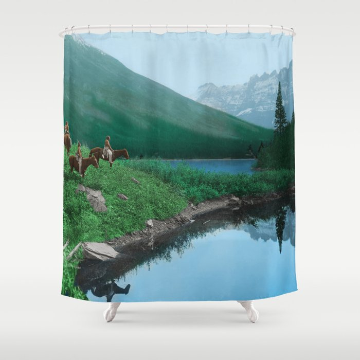 The Hunting Ground - Blackfoot American Indian Shower Curtain by ...