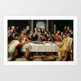 Last Supper Painting Reproduction Art Print