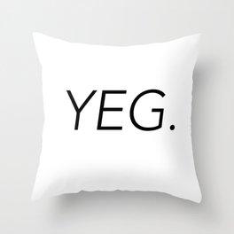 YEG City Code - Edmonton Throw Pillow