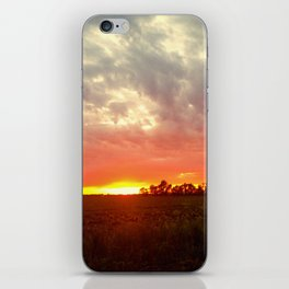 Chasing fire       (Curtain panel #2) iPhone Skin