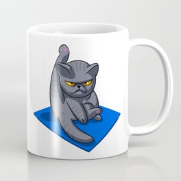 Yoga cat - Angry cat - grey cat - fat cat Coffee Mug