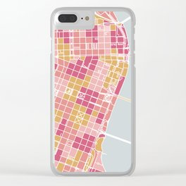 Portland map Clear iPhone Case