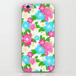 04 Pattern of Watercolor Flowers iPhone Skin