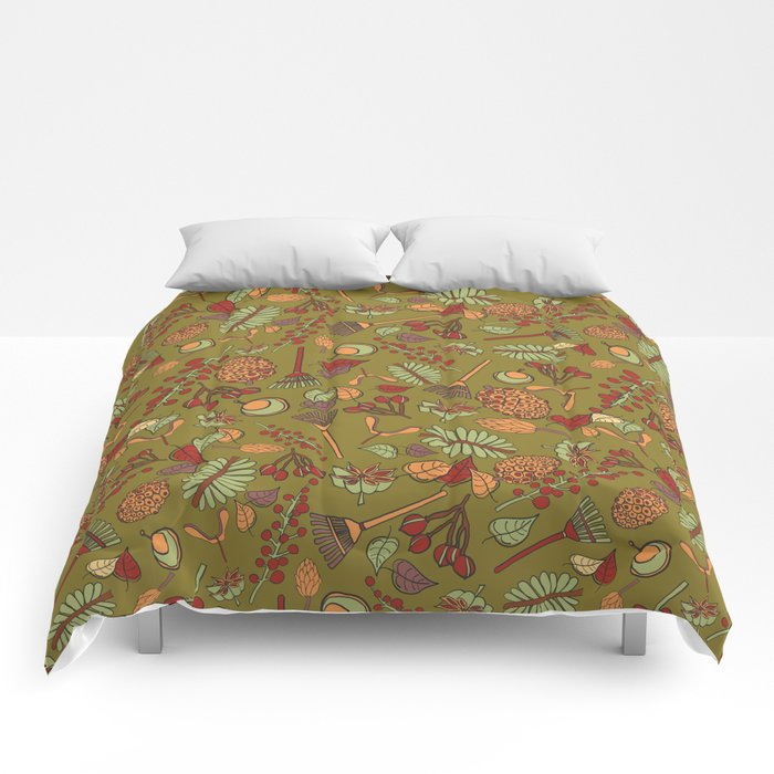 autumn cleanup Comforters