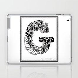Zentangle G Monogram Alphabet Initials Laptop & iPad Skin