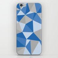 Blue & Gray Geometric iPhone & iPod Skin