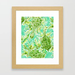 ALL INTENTS AND TURTLEST Snake Neck Turtles Framed Art Print