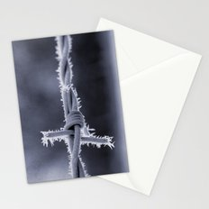 Frosted Barbed Wire Stationery Cards