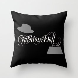 Fashion doll, fashion, clothing Throw Pillow