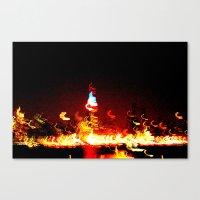 manhattan Canvas Prints featuring Manhattan by Rochana Dubey