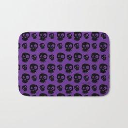 Skulls - purple/black Bath Mat