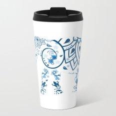 Floral Elephant Metal Travel Mug