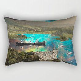 CANOEING IN THE NEBULA NEAR THE CASTLE Rectangular Pillow