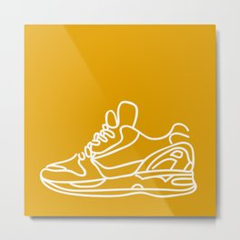 Sneakers Outline #3 Metal Print