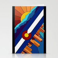 denver Stationery Cards featuring Denver, CO by HighTribe