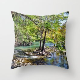 Guadalupe River Throw Pillow