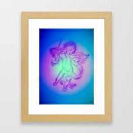 Heavenly apparition  Angel Music Framed Art Print