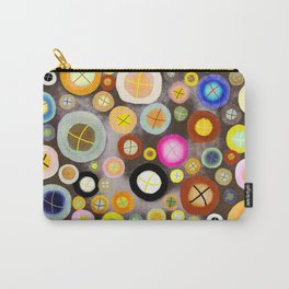 The incident - Circles pale vintage cross Carry-All Pouch