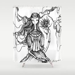 Towards the Light of Love Shower Curtain