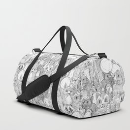 crazy cross stitch critters Duffle Bag