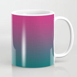 Pink Green Gradient Pattern Coffee Mug