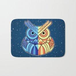 Geometric Owl Bath Mat