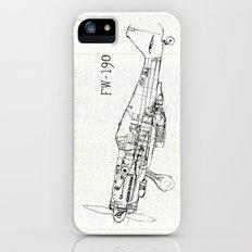 FW - 190 ( B & W) Slim Case iPhone (5, 5s)