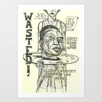 gucci Art Prints featuring Gucci Mane by Maddison Bond