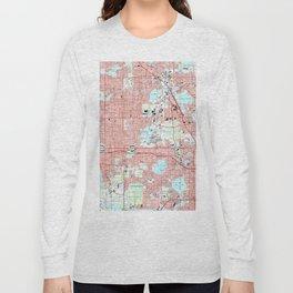 Orlando Florida Map (1995) Long Sleeve T-shirt