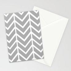 GRAY THIN CHEVRON Stationery Cards
