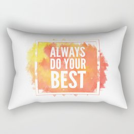 Motivation inks poster. Text lettering of an inspirational saying. Grunge paint vector element set. Rectangular Pillow