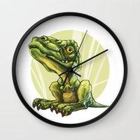 dinosaur Wall Clocks featuring Dinosaur by SansArt