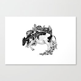 Cow - Go Vegan Canvas Print
