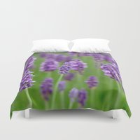 lavender Duvet Covers featuring lavender by GISMANA
