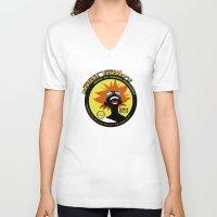 bebop V-neck T-shirts featuring Bebop Ed by AngoldArts