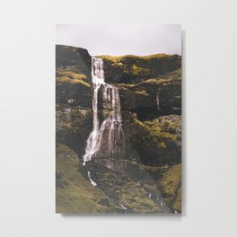 Waterfall Somewhere in Southern Iceland. Metal Print