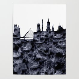 Buenos Aires Skyline Argentina Poster
