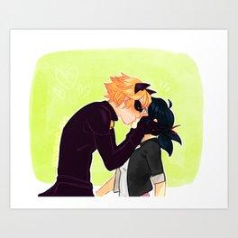 Kiss the Princess Art Print