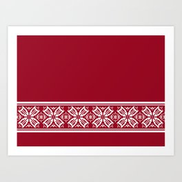Red Jacquard Art Print