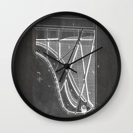 Steinway Piano Patent - Piano Player Art - Black Chalkboard Wall Clock