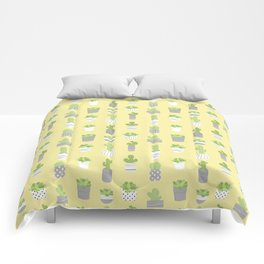 Succulents & Cacti - Yellow Comforters