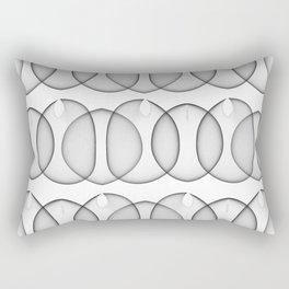 Black and White Bubbles Rectangular Pillow