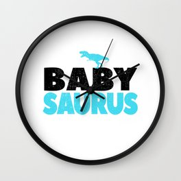 Baby Saurus Boy Girl Kids Dino Dinosaur T-Rex Gift Wall Clock