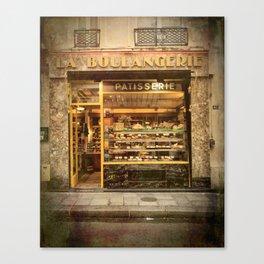 La Boulangerie Paris Canvas Print