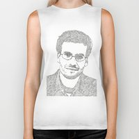 john green Biker Tanks featuring John Green by S. L. Fina